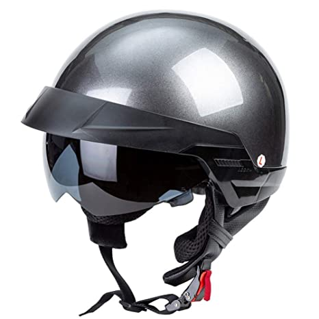 Gelb 66 Retro Harley Helm Jethelm Jethelm Vintage Biker Pilot Moto-Helm D.O.T Zertifiziert
