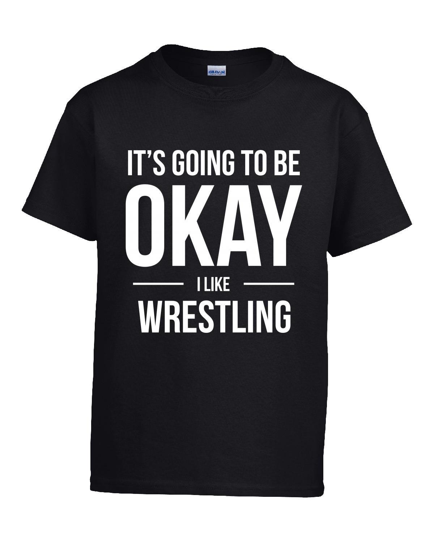 It's Going To Be Okay I Like Wrestling Sports - Girl Kids T-shirt Kids S Black