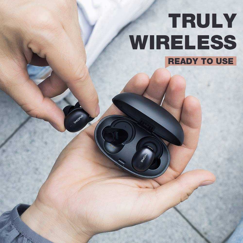 1MORE Stylish True Wireless Earbuds – Bluetooth 5.0 Stereo Hi-Fi Sound with Deep Bass Wireless Earphones Built-in Mic Headset, 24 Hours Playtime, in-Ear Bluetooth Earphones with Charging Case
