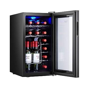 JCOCO 18 botellas de enfriador/enfriador de vino termoeléctrico | Encimera de vino tinto y
