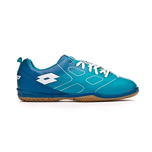 Lotto Maestro 700 ID Niño, Zapatilla de fútbol Sala, Blue Bird-White,