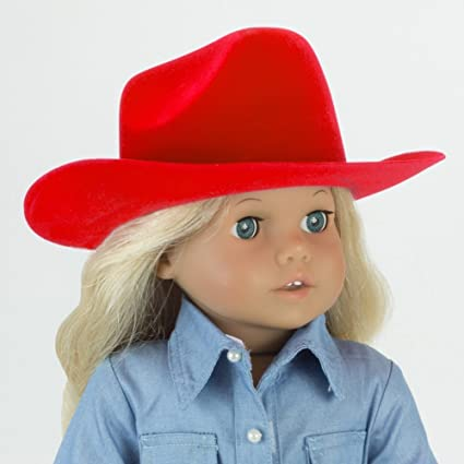 "Tan Cowboy Cowgirl Dude Ranch Hat fits 18/"" American Girl Molly Doll Clothes"