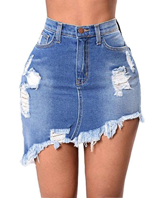 Faldas azules cortas de jeanhttps://amzn.to/2D6hILS