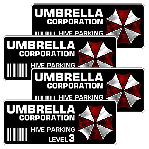 AZ House of Graphics Umbrella - Level 3 Hive Parking - 4 Pack -