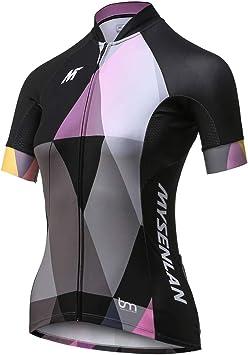 Mysenlan Maillot de Ciclismo Mujer Camiseta Manga Corta Jersey ...