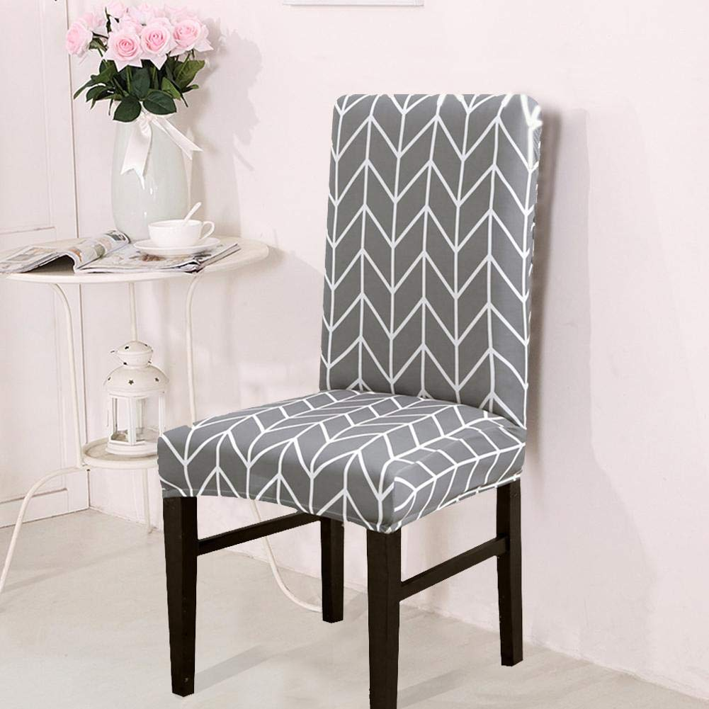 1//4//6//8 Pack Dining Chair Covers Short Dining Chair Protector Seat Slipcover Stretch Removable Washable Slipcovers for Ceremony Banquet Wedding Party