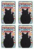 JetzScrubz Pet Dish and Bowl Scrubber Sponge, Cat, Set of 4, Made in The USA