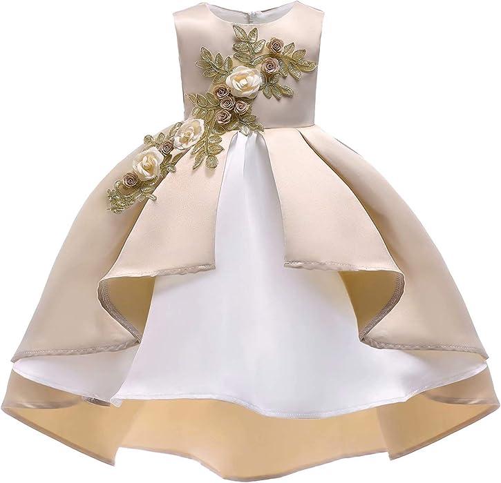 387ab2c37e7c Amazon.com  JiaDeBao Girl Dress Princess Gowns Party Flower ...