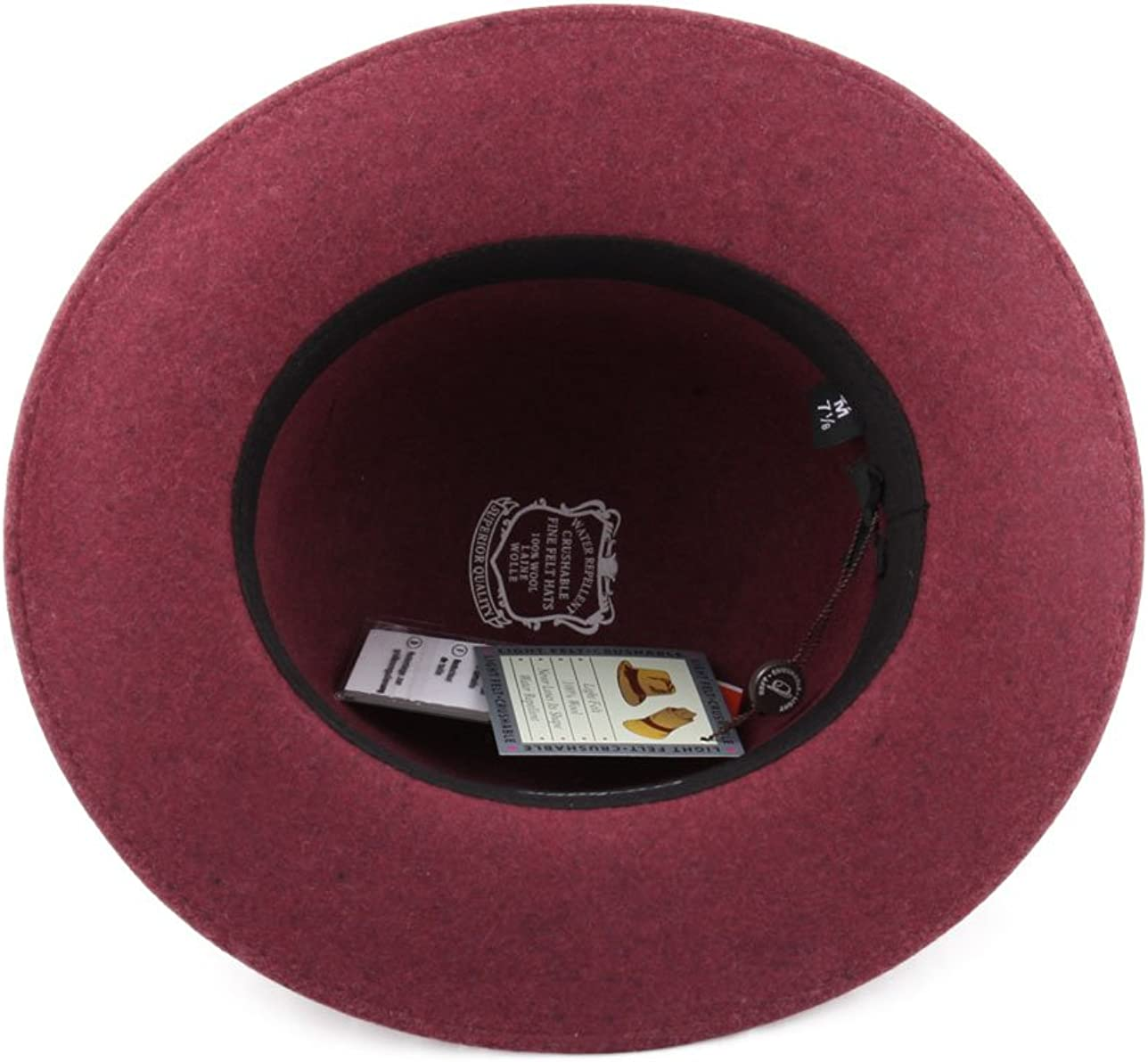 Bowler Hat Wool Felt Packable Water Repellent Wide Brim Nude Po/ète Classic Italy