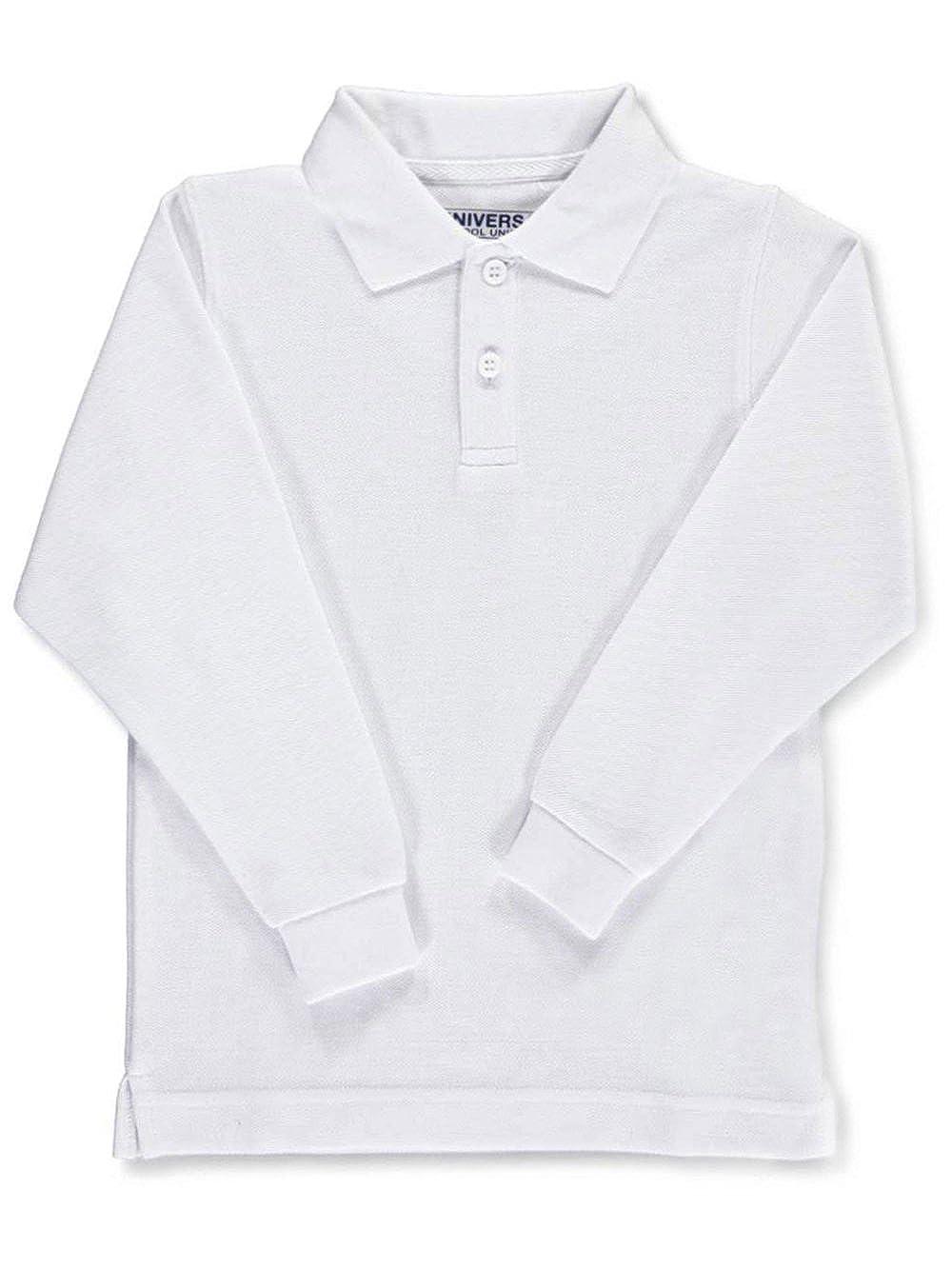Universal Unisex L/S Pique Polo - white, 14