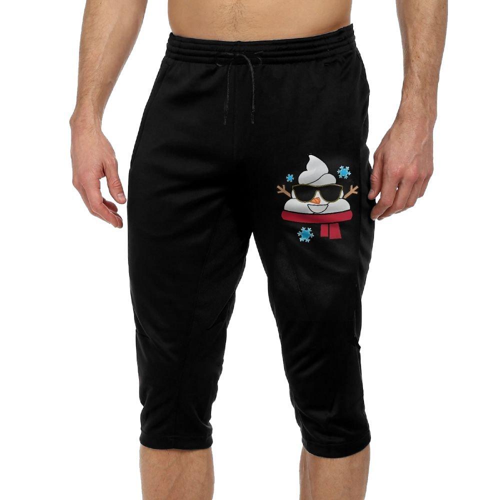 BigManPants Christmas Snowman Emoji Poop Exercise Male Vintage Casual Durable French Terry Lounge Pants by BigManPants