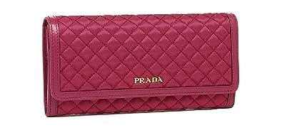 ca7fdb603912 (プラダ)PRADA メンズ レディース 長財布 新品 ピンク IBISCO 1MH132 [並行輸入品