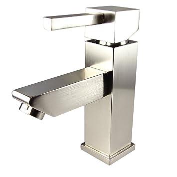 Fresca Bath Fft1030bn Versa Single Hole Mount Bathroom Vanity Faucet