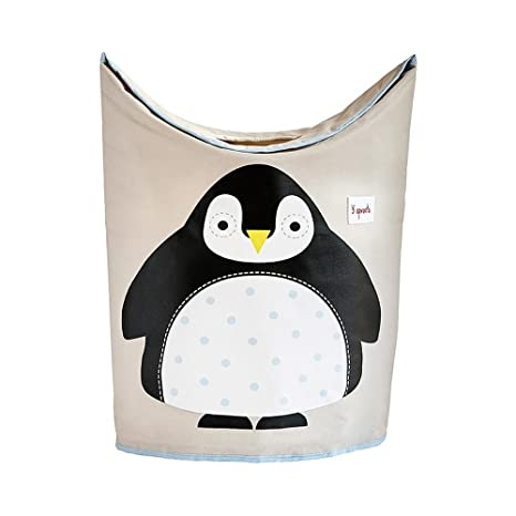 3 Sprouts Pinguino - Cesto para ropa, unisex