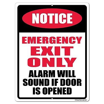 Amazon.com: Aviso salida de emergencia solamente 18