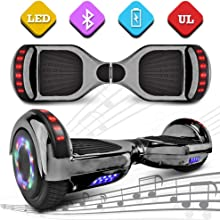 """NHT 4.5"""" to 6.5"""" Wheel Hoverboard Electric Smart Self Balancing Scooter - UL2272 Certified, Black/Blue/Pink/Red/White/Bluetooth Available On Select Model"""
