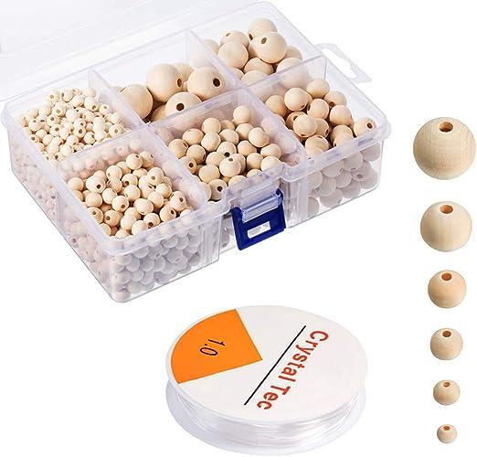 5,5 mm-ronde 200 x perles en bois peint plusieurs couleurs disponibles