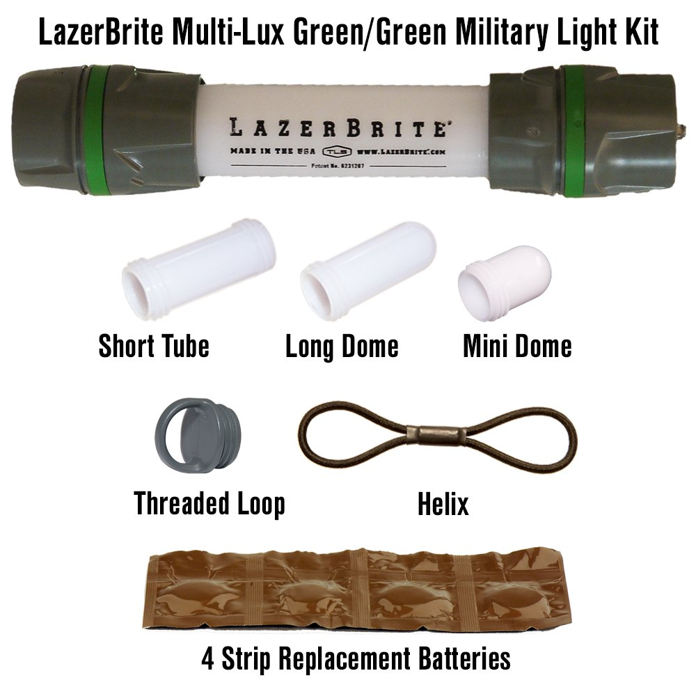 Lazerbrite Multi Lux Green/Green Military Light Kit