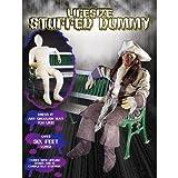 Life-Size Halloween Stuffed Dummy with Lifelike Hands, 6-ft Tall