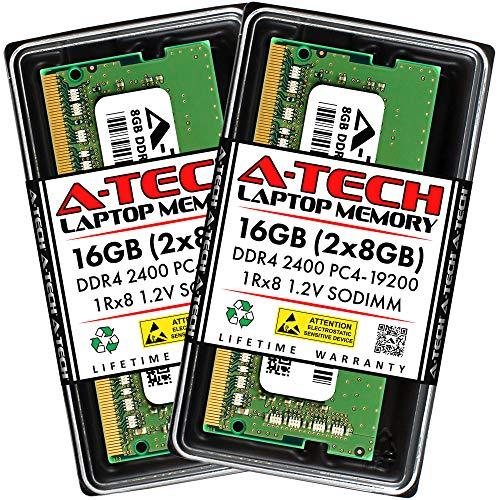 A-Tech 16GB Kit (2x8GB) DDR4 2400 MHz SODIMM 260-Pin PC4-19200 1Rx8 1.2V CL17 Notebook Laptop RAM Computer Memory Upgrade Modules