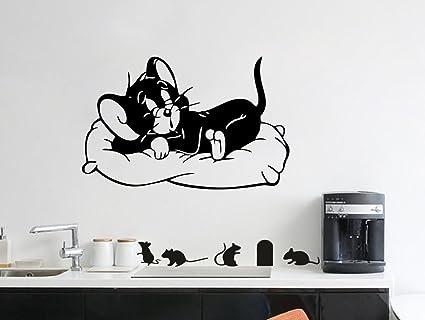 Buy Decor Kafe Sleeping Tom Wall Art Home Decor Wall Stickers Pvc