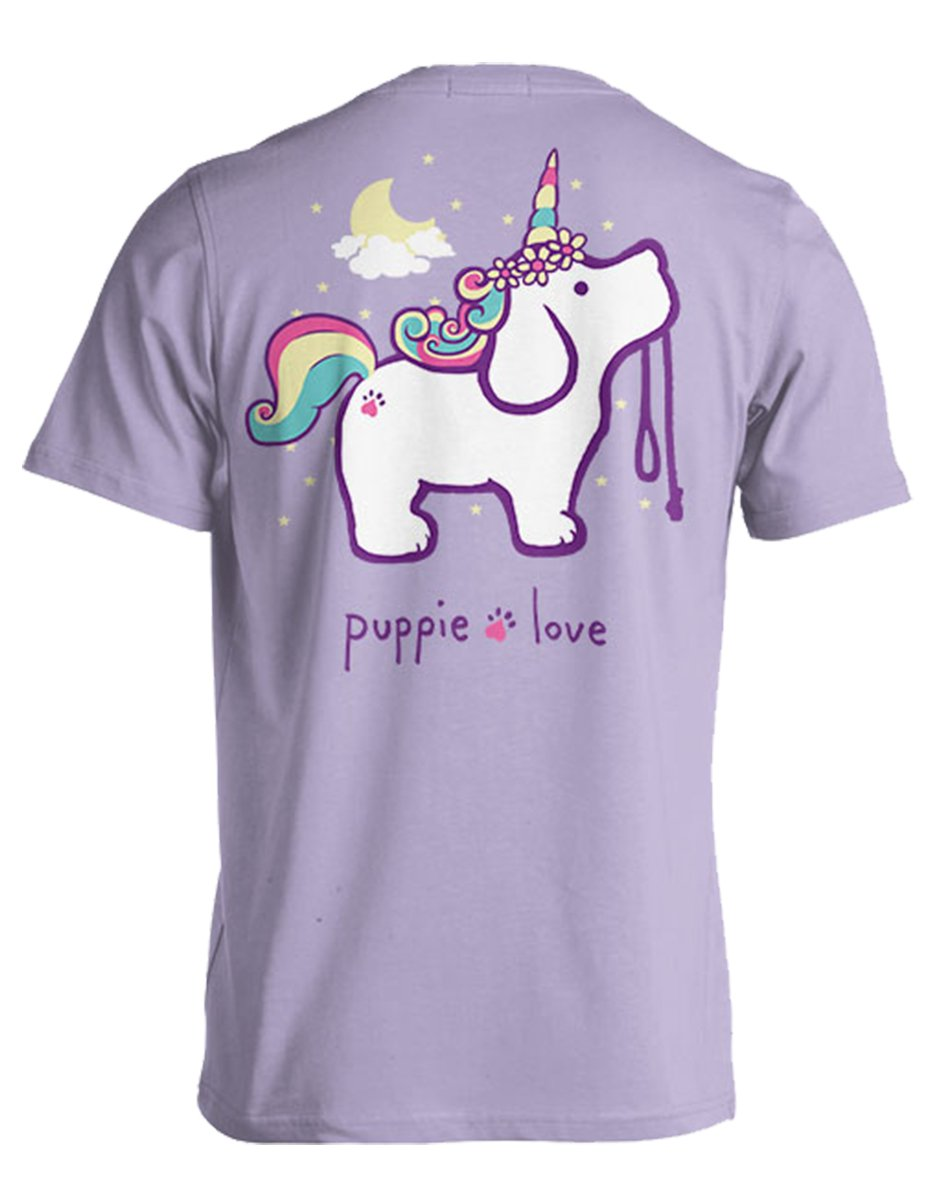 Puppie Love Youth Unicorn Pup Help Rescue Dogs T-Shirt-Youth Small