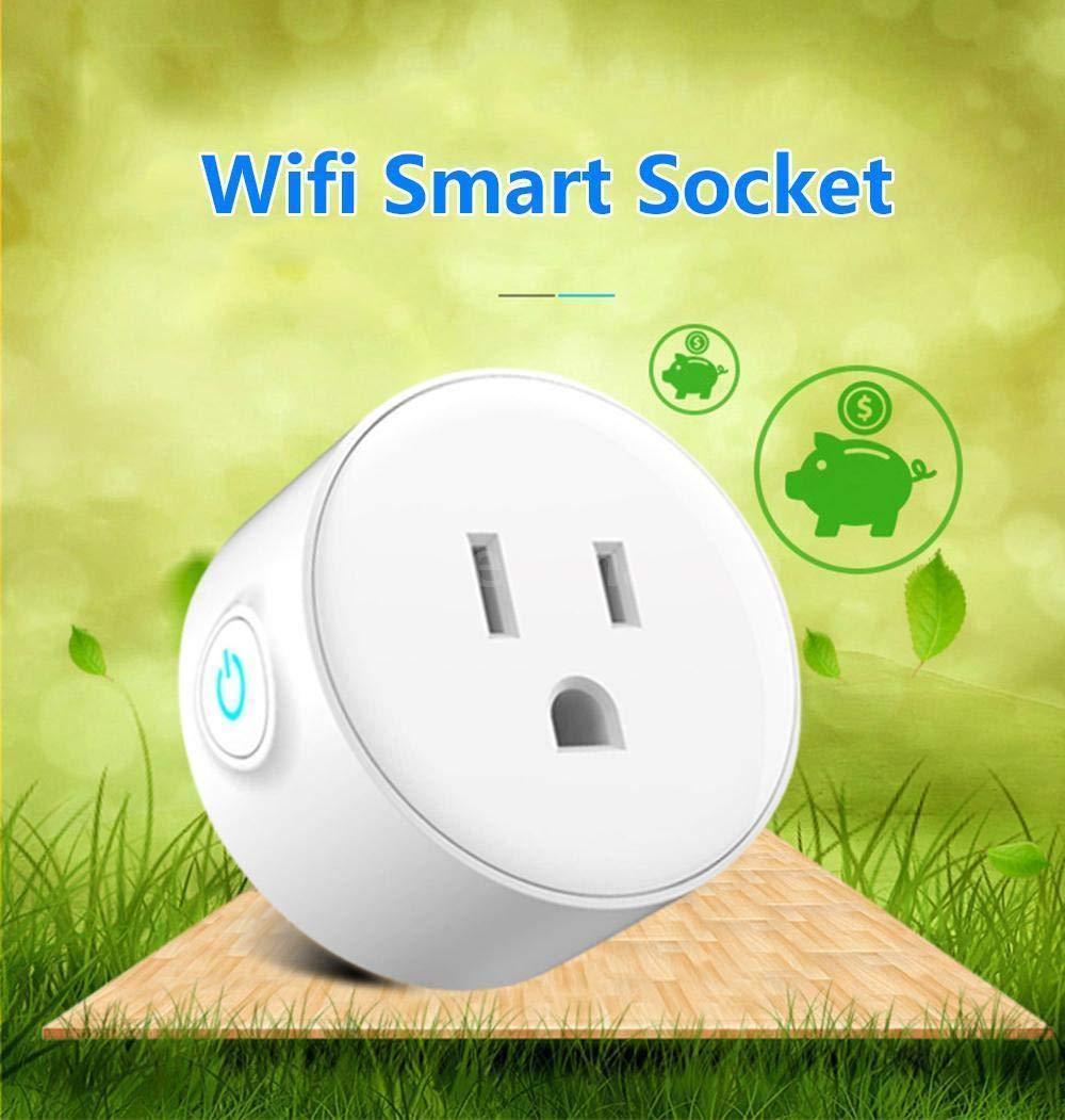 FidgetFidget Remote Controlv Smart US Plug WiFi Work with Alexa Phone Socket Light Switch E0F9