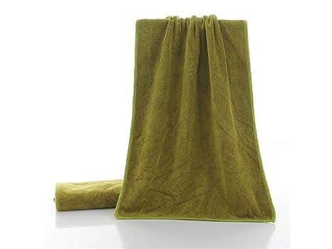 OHlive Brillante Toalla de peluquería de Fibra extrafina Superfine de Adultos de Color sólido Toalla de