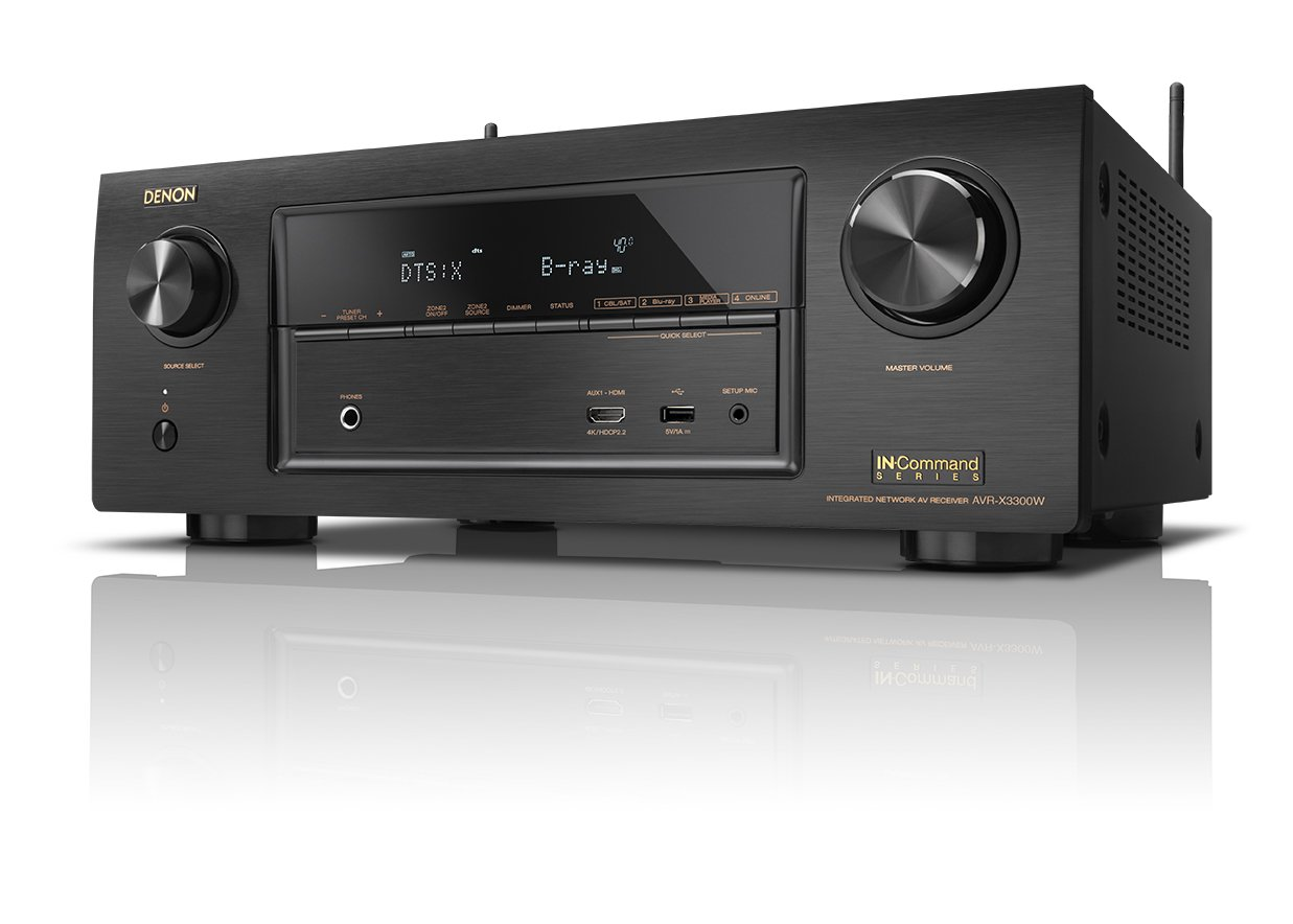 Amazon.com: Denon AVR-X3300W 7.2 Channel Full 4K Ultra HD A/V Receiver with  Built-in Wi-Fi and Bluetooth: Electronics