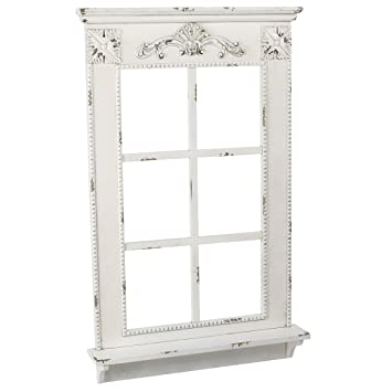 Annastore Deko Fenster Mit Fensterbank Im Antik Finish H 93 Cm Deko