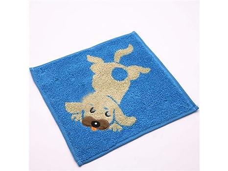 PanpA Suave Perro de dibujos animados de algodón absorbente Toalla de bebé toalla de lavado Toalla