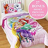 Disney Palace Pets Twin Comforter Set Princesses Sweet Pet Friends Bedding Plus Bonus Wall Stickers