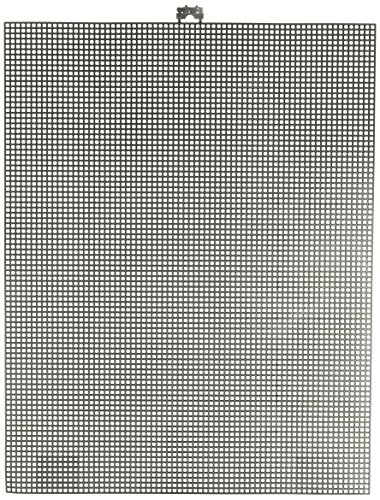 Darice 7 Mesh Black Plastic Canvas - Create a Variety of Fun Plastic Canvas Crafts Including Bookmarks, Picture Frames, Pins and More - 1 Sheet, 7 Holes Per Inch, 10.5