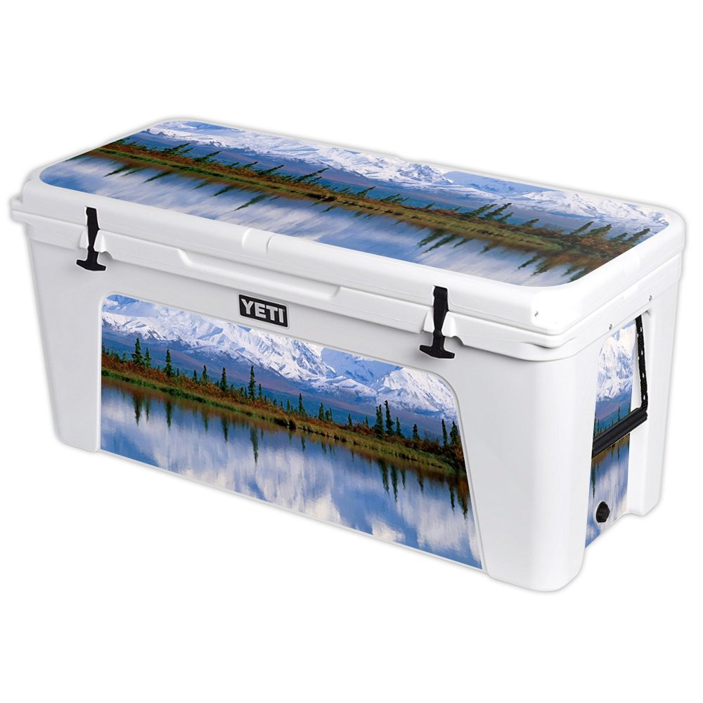 MightySkins Protective Vinyl Skin Decal for YETI Tundra 160 qt Cooler wrap Cover Sticker Skins Mountains