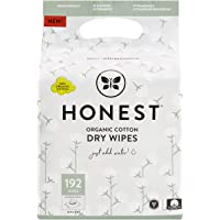 The Honest Company Organic Cotton Dry Wipes, 48 Wipes (Pack of 4)