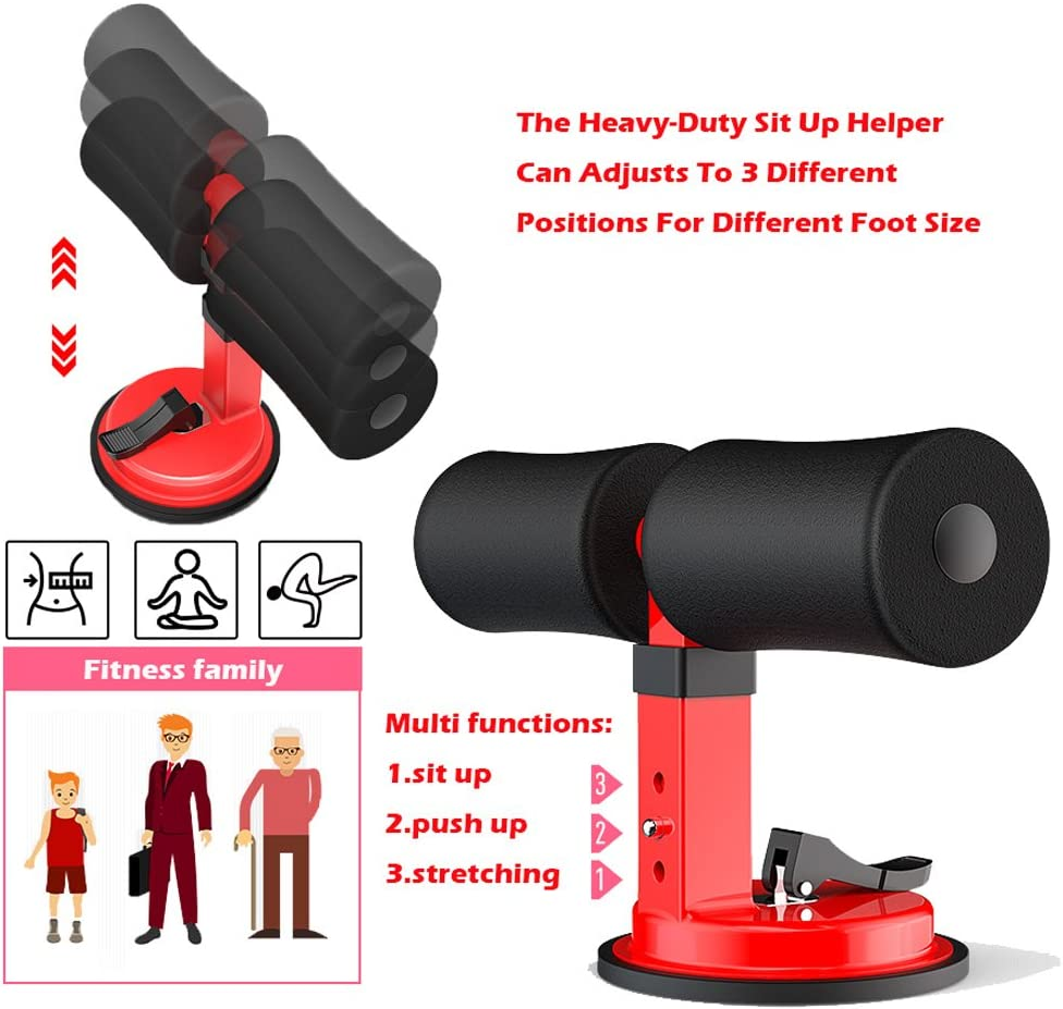 WOTENCE Double Suction Cup Portable Sit-Up Bar Aid-Accessories Health Abdominal Device For Men /& Women Multi-function Self-suction Situp bar