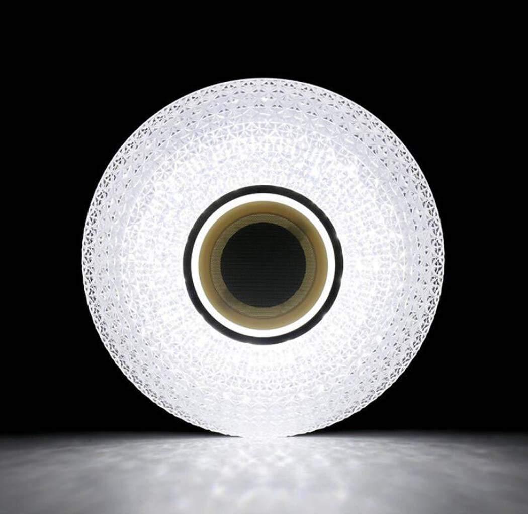 Diammble cool blanc rond encastr/é luminaire de montage 36W /Ø40cm LED plafonnier avec t/él/écommande lampe de musique RGB temp/érature de couleur r/églable int/égr/é Bluetooth haut-parleur APP smartphone