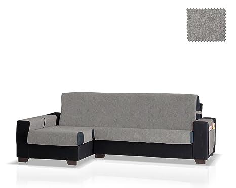 JM Textil Funda de sofá Chaise Longue Pharma Brazo Izquierdo, Tamaño Normal (245 Cm.), Color Gris