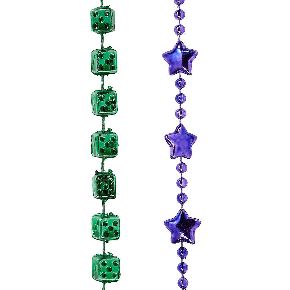Amscan Mardi Gras Bead Necklaces, Carnival Party Supplies, 3 Assorted Colors, 30'' L, 576 Count by amscan (Image #4)