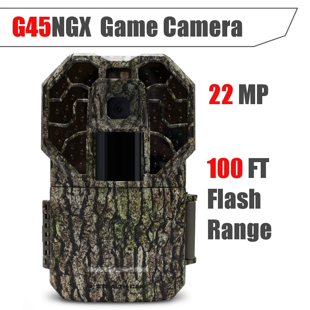Stealth Cam G45NGX 22MP HD1080 Game Camera- 45 No Glo Emitters, Low Light Sensitivity, Blur Reduction, Sub 1 Second Trigger, Multi Zone Detection by Stealth Cam