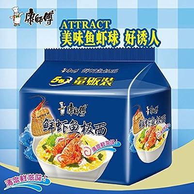 China Good Food 量贩装China instant noodles(康师傅 经典鲜虾鱼板面 5 bags)康師傅/Masterkong方便面 泡面 速食面 中国人的方便面 免运费 : Grocery & Gourmet Food
