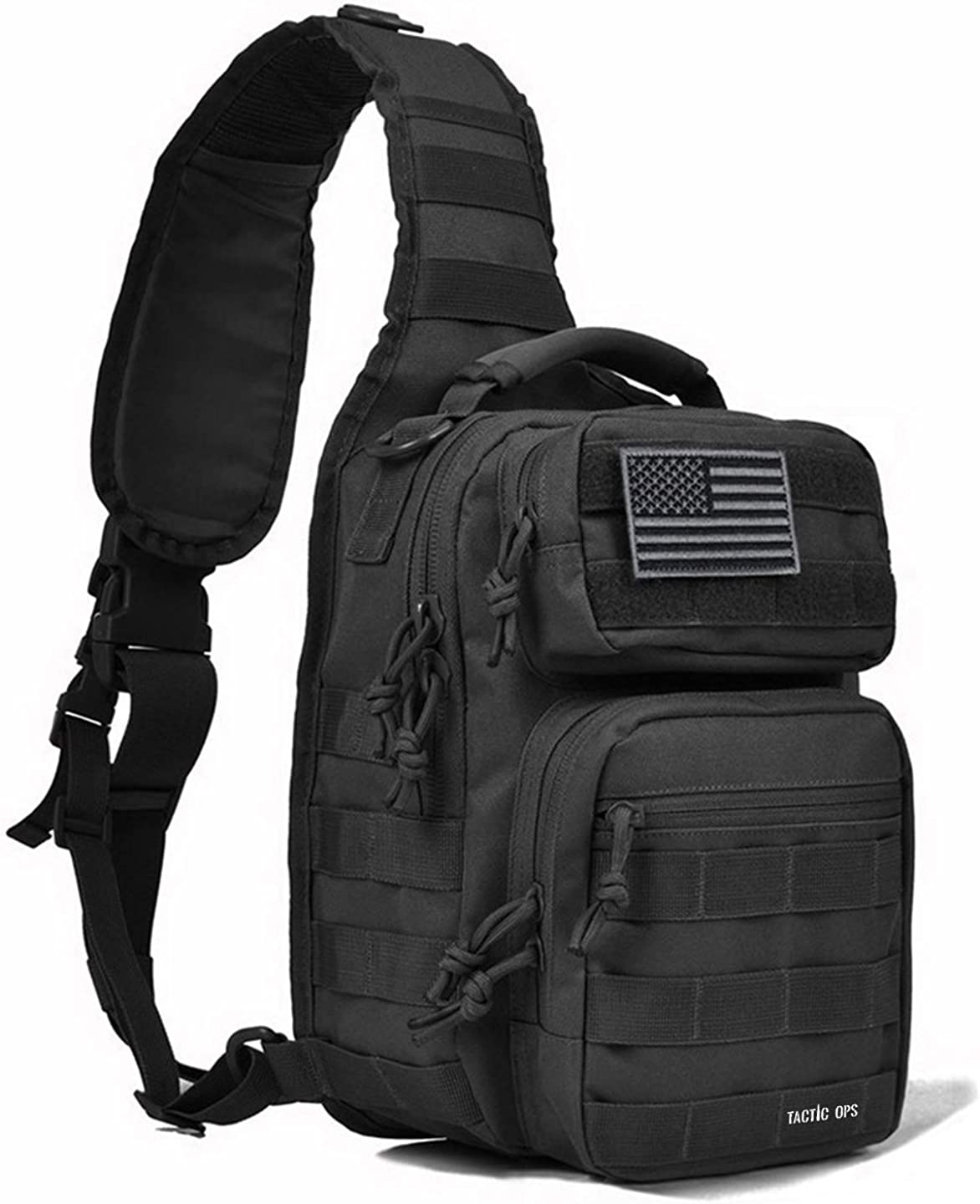 Tactical Sling Bag Backpack Pack Military Waterproof Assault Rover Shoulder Sling Molle Range Bag Everyday Carry EDC Diaper Bag Small Day Pack by Tactic Ops