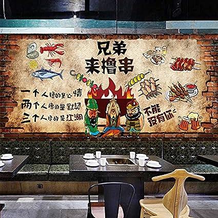 Papel tapiz de Barbacoa Retro Retro personalizada decoración personalizada con estilo urbano clásico tema Wallpaper Hotel
