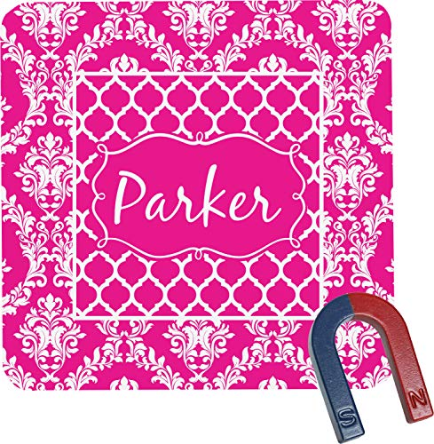 (Moroccan & Damask Square Fridge Magnet (Personalized))