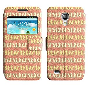 AADes Scratchproof PU Leather Flip Stand Case Samsung Galaxy S4 MINI ( Dancing Mice )