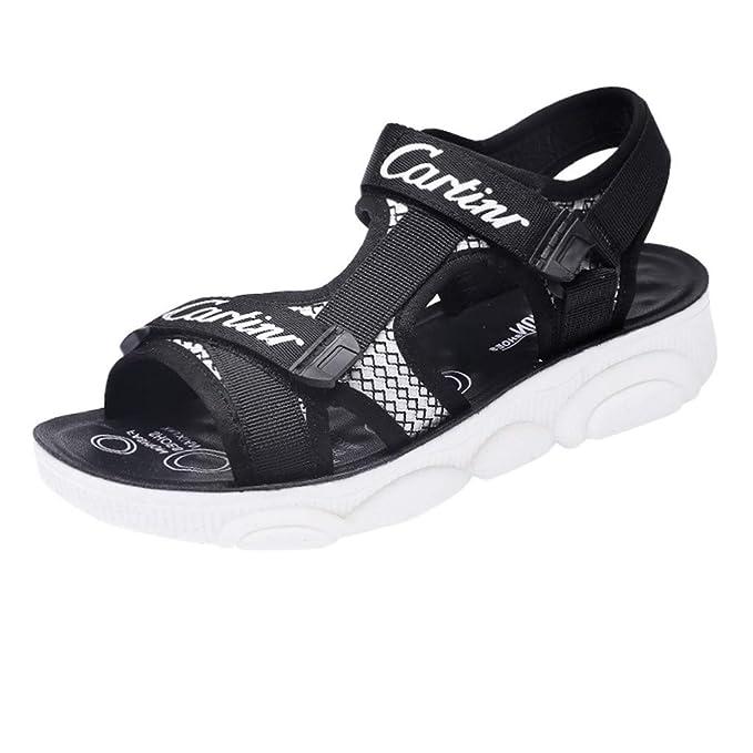 Amazon.com: Sandalias de senderismo para mujer, con correa ...