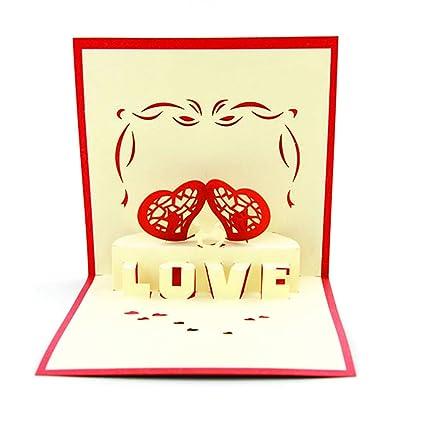medigy Handmade 3d Pop Up Cards - Tarjetas de felicitación ...