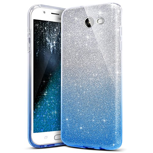Price comparison product image Galaxy J5 2017 Case,IKASEFU Bling Glitter Sparkle Gradient Ultra Slim Fit Flexible TPU Silicone Rubber Gel Bumper Shockproof Case Cover for Samsung Galaxy J5 2017/J5 Pro/J530