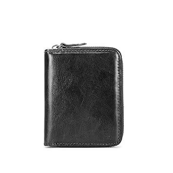 Vintage Brieftasche für Herren Leder Short Cross Section Rindsleder  Geldbörse Freizeit Drive Card Multi Funktion Karten c75dff23ff