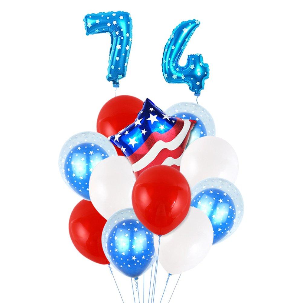 LUOEM Decoración del globo patriótico de la bandera americana para el día de la independencia del día nacional el 4 de julio (números de 32 pulgadas del Blue Star)
